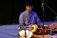 Appaji plays a traditional Indian drum, the mridangam, during a performance at Plano's Courtyard Theater. He has been playing the instrument since he was 12 years old.Photo submitted by ANU APPAJI