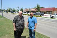 Steve Martin (left), president of the Duncanville Chamber of Commerce, and Daniel Flores, real estate agent and project manager at Options Real Estate, are part a group of residents working to revitalize Duncanville.Staff photo by NANETTE LIGHT - neighborsgo