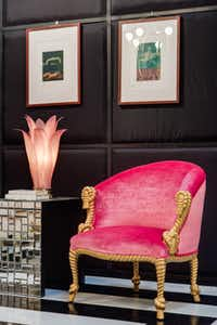 A pair of pink-upholstered armchairs, with gold rope-and-tassel motif, are from the '70s. Before the Thrift Studio debut, they were listed on 1stdibs.com at $4,800 for the pair. Thrift Studio shoppers have a chance to scoop them up for $1,200 each.