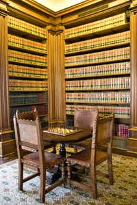 Everette DeGolyer's impressive library of 15,000 volumes was retained by SMU, to whom the DeGolyer Foundation left the estate. The city of Dallas purchased the house and grounds from SMU in 1975.