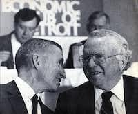 """I feel nothing but excitement,"" Ross Perot (left) said after General Motors, headed by Roger Smith, bought EDS in 1984. But a clash of business cultures always lurked."