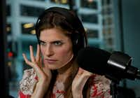 """Lake Bell, the director, writer and star of """"In a World,"""" an movie about the people who do movie trailer voice overs, is interviewed at WGN Radio in Chicago, Illinois, on July 31, 2012."""