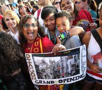 Fans gathered for the grand opening at the Wizarding World of Harry Potter expansion at Universal Studios.Joe Burbank  -  Orlando Sentinel