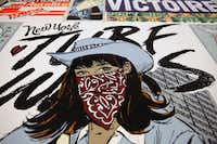 "Faile,  New York Turf Wars (detail), 2013. Courtesy of the artist and Dallas Contemporary.  ""FAILE"" is being assembled by Booklyn, N.Y.-based artists Patrick McNeil and Patrick Miller, whose multimedia installations, large-scale paintings and sculptures have helped change the perception of the Street Art genre."