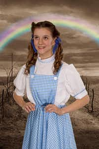 Alison Borish plays Dorothy in The Magical Land of Oz at Arty's Playhouse, Jan. 5 through Feb. 9, in Hurst.