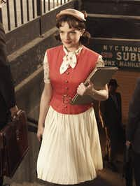 "Elisabeth Moss as Peggy Olson in""Mad Men""."