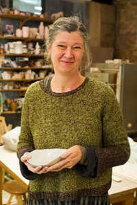 Paris potter Sylvie Pidancet-Bouquet in her studio