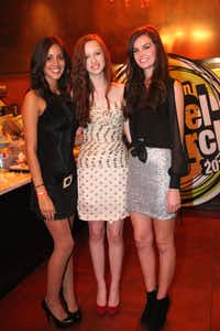 Model finalists Claudia Osorio, Lillian Rose and Kaylin Rogers at the 2011 Kim Dawson Video Festival and Model Search Reveal after-party on Nov. 2, 2011.