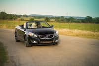 Christina Geyer in the Volvo C70 Inscription Convertible