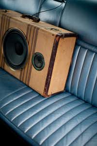 A friend reworked a vintage suitcase into a traveling stereo as a gift for Badu's 40th birthday.