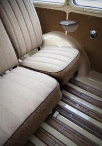 Interior of one of Leon Miller's restored Jeep Grand Wagoneers