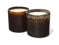 Lafco House & Home collection soy-based candles in hand-blown glass, $55 each, Lafco-Santa Maria Novella