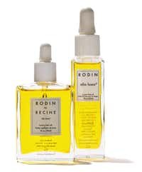 Rodin by Recine luxury hair oil, $60, and Rodin Olio Lusso luxury face oil, $140, Forty Five Ten