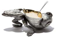 Corbell silver-plate frog salt cellar, $270, The Ivy House