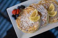 Lemon ricotta pancakes at Coffee House Café (6150 Frankford Road at Preston, Dallas, 469-248-0554, coffeehousecafe.com). Open/breakfast served 6 a.m. to 4 p.m. weekdays, 8 a.m. to 4 p.m. weekends.)