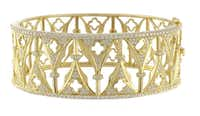 Katie Decker cuff in yellow gold and diamonds, Eiseman Jewels