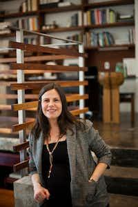 Jessica Stewart Lendvay in her Deep Ellum office