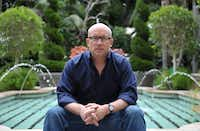 "Alex Gibney poses for a portrait at the Four Seasons in Los Angeles. When Gibney set out to document cyclist Lance Armstrong's 2009 Tour de France comeback, the filmmaker of ""The Armstrong Lie,"" admits he bought into the hype: The man who'd cheated death was coming back to reign supreme -- clean. ""All of us fans wanted to believe,"" said Gibney. ""You want to root for people. That is what sports are all about."""