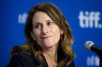 "Director Nicole Holofcener takes a question about deceased star James Gandolfini during the press conference for ""Enough Said"" at the 2013 Toronto International Film Festival in Toronto on Sunday, Sept. 8, 2013."
