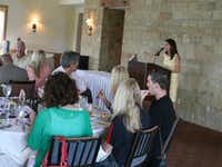 Walker speaks to the crowd at the chamber's monthly luncheon Sept. 17 at Lantana Golf Club.