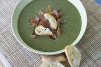 Potato and greens soup with parmesan toasts in Concord, N.H.Matthew Mead - AP