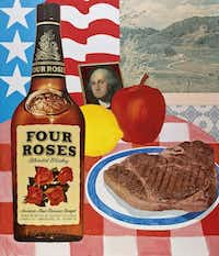 """Tom Wesselmann; """"Still Life No. 15,"""" 1962 Oil, printed papers, photograph on canvasNone"""