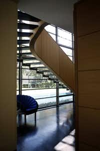 Stairway of the Brodsky residence designed by  Frank Welch