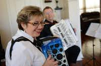 The Fainshteins have been playing the accordion together since they were 17 years old and music students in the former Soviet Union.Rose Baca - neighborsgo staff photographer