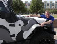 Frisco council member John Keating shows the vehicle he'll be driving with Mayor Maher Maso in the Fireball Run.Ron Baselice  -  Staff Photographer