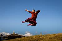 A flying monk in Bhutan.Jonathan Look Jr.  -  Special Contributor