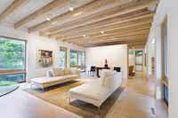 """Interior of a house at White Rock Lake designed by Gary """"Corky"""" Cunningham"""