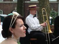 The Jazz Age Lawn Party attracts hundreds of people in Jazz Age style for dancing to the authentic sounds of Michael Aranella and his Dreamland Orchestra.