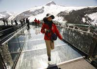 The skywalk juts from bedrock in the Rockies. It has garnered environmental and design awards.Jeff McIntosh  -  The Canadian Press