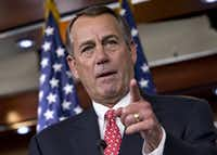 House Speaker John Boehner said he doesn't care what tea party leaders want.