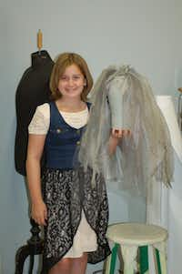 """Shannah Roberts and her winning hat, which will appear in the Dallas Children's Theater production of """"Ghouls & Graveyards."""""""