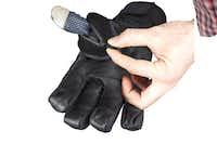This glove showcases Gordini SensorZip Smart Thumb Technology.