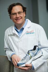 Dr. Lalan Wilfong, oncologist at Texas Health Presbyterian Hospital Dallas, enjoys running as a way to keep in shape.