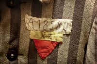 A close-up of a concentration-camp work uniform, on display at the Dallas Holocaust MuseumFile 2011  -  Staff Photo