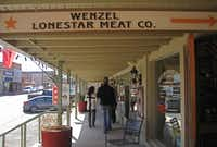 Wenzel's meat market and cafe sits in the historic Hamilton County Courthouse district.June Naylor -  June Naylor