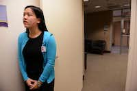Ashley Nguyen, a senior at Frisco Liberty High School, waits for Dr. Kristine Guleserian, surgical director of pediatric cardiac transplantation at Children's Medical Center, to begin clinical rounds.Photos by Rose Baca  - neighborsgo staff photographer