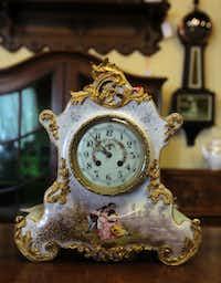 A French china clock