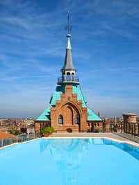 Escape the crowds of Venice with a serene soak in the rooftop pool at the Hilton Molino Stucky on Giudecca.