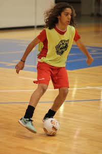 Patrick Koffi said futsal has helped improve his skill and agility.Photos submitted by FELIPE MARIEL