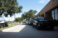 <TypographyTag11>Carrollton Police Department vehicles</TypographyTag11> are parked outside the building with no barrier between them and a public street. Among other improvements, construction of a new police station would provide protection of police vehicles.Staff photo by CHRIS DERRETT