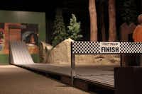 A pinewood derby track is one of the National Scouting Museum's popular exhibits among children. Opened in Irving in 2002, the National Scouting Museum includes an art gallery, a general historical exhibit and hands-on scouting activities.Staff photo by CHRIS DERRETT
