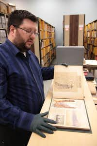 Archivist Steven Price manages thousands of documents highlighting different aspects of the Boy Scouts of America's history. Opened in Irving in 2002, the National Scouting Museum includes an art gallery, a general historical exhibit and hands-on scouting activities.Staff photo by CHRIS DERRETT