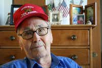 Gray, a World War II veteran, says he remembers silence during the landing on Omaha Beach on D-Day.