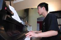 Plano West junior William Chiang practices piano after school. Chiang will use the grant he received through the Young Masters program to study at the Brevard Music Center Institute in North Carolina this summer.Staff photo by CHRIS DERRETT - neighborsgo