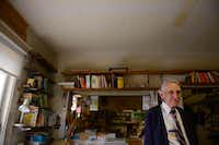 Robert Jones stands among books of various languages in his shop, Imported Books, in Oak Cliff on Jan. 14, 2014. The shop has been a mainstay on West Clarendon since the 1970s, but now, after more than three decades of business, Jones says itâs time to close the shop.ROSE BACA