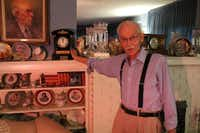 Dr. Clay W. Gilbert's favorite heirlooms in his historic home is his grandfather's clock.